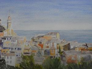 Mediterranean Village  51 x 36 cm