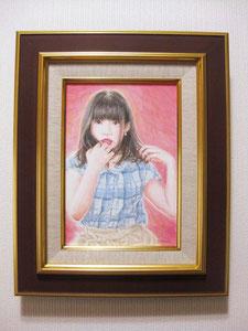 1《朝顔 〜kei〜》 サムホール(額縁付き)/¥14,000(税込)
