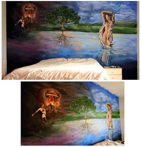 Mural for private residence.