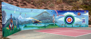 Mural for the City of Signal Hill at Discovery Well Park - front