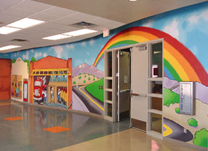 Mural for Elementary school in Texas.