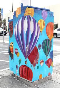 Traffic Control Box Mural for the City of Long Beach.