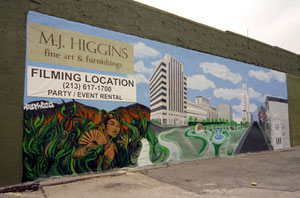 Mural for MJ Higgins Gallery in Downtown Los Angeles