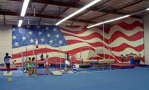 Mural for American Gymnastics Academy in Signal Hill.
