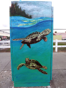 Traffic Control Box Mural for the City of Long Beach. Located on Anaheim & Pacific.