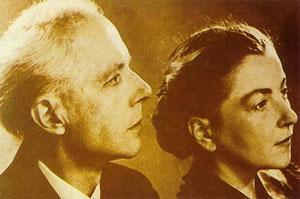 Bartók con su segunda mujer, Ditta Pásztory.