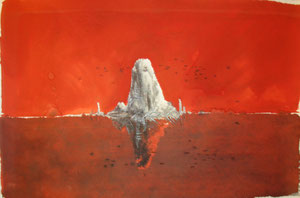 Red Rock (50 x 30; ecoline on paper) AVAILABLE