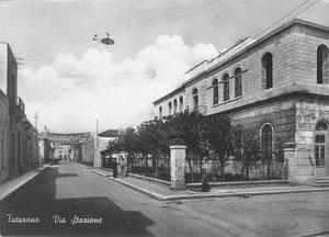 Via Stazione - Tuturano  - anni '50