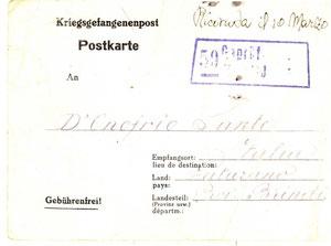 1943 - Cartolina campo prigionieri di guerra 1