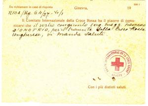 1944 Cartolina comitato internazionale croce rossa 2