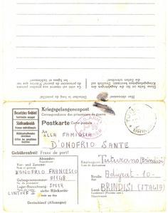 1944 - Avviso dalla prigionia 8 febbraio 1944 1