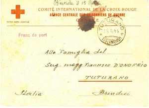 1944 Cartolina comitato internazionale croce rossa 1
