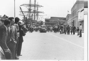 1978-5-14 Nave Scuola Amerigo Vespucci e manifestazione Brindisi in bicicletta