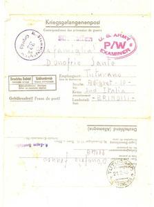 1944 - Lettera dalla prigionia