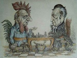 De Gaulle und Adenauer