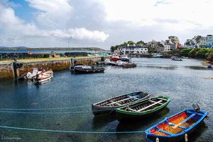 Petit port du Connemara en Irlande