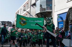 Galway, parade de la St-Patrick, club sportif