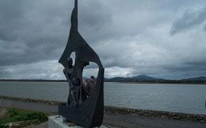 Irlande, Dundalk, Statue chemin des promeneurs