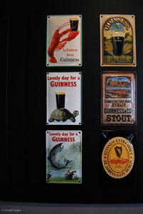 Affichage pub Guinness dans Pub