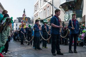 Galway, parade de la St-Patrick, scout