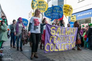 Galway, parade de la St-Patrick, mouvement féministe