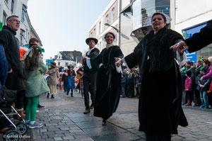 Irlande, Comté du Connemara, Galway, parade de la St-Patrick, danse bretonne