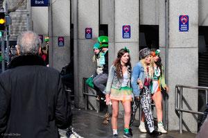 Crise de foie à la Saint-Patrick à Dublin,Irlande