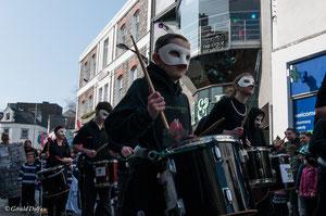 Irlande, Comté du Connemara, Galway, parade de la St-Patrick, fanfare
