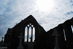 Vestige d'une église irlandaise du moyen-âge dans le Comté de Longford