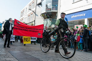 Galway, parade de la St-Patrick, les ramoneurs