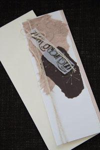 geburtstagskarte, format 10,5 x 29 cm, mit innenblatt und passendem couvert, fr. 11.00