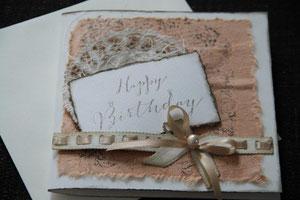 """karte """"happy birthday"""", format ca. 15 x 15 cm mit innenblatt und couvert in passender farbe, fr. 9.50"""