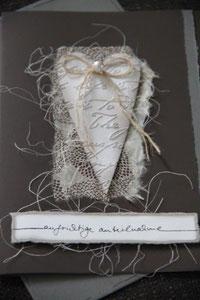 """kondolenzkarte """"aufrichtige anteilnahme"""", format 21 x 15 cm, inkl. innenblatt und couvert, fr. 9.50"""