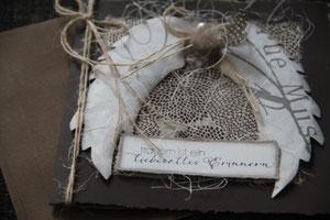 """kondolenzkarte """"trauern ist ein liebevolles erinnern"""", format ca. 17 x 17 cm, inkl. innenblatt und passendem couvert, fr. 9.50"""