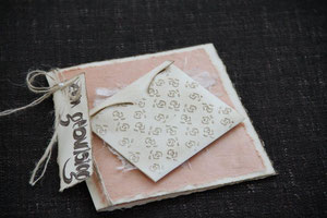 geburtstagskarte, format 15 x 15 cm, mit kleinem couvert für geldgeschenk, inkl. innenblatt und passendem couvert, fr. 9.50