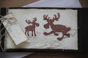 """weihnachtskarte """"für lichtvolle momente"""", format 19 x 10.5 cm, mit innenblatt und passendem couvert, fr. 9.50"""