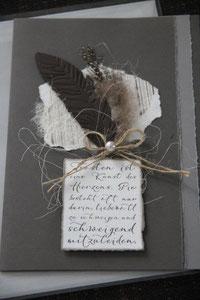 """kondolenzkarte """"trösten ist eine kunst..."""", inkl. innenblatt und couvert, fr. 9.50"""