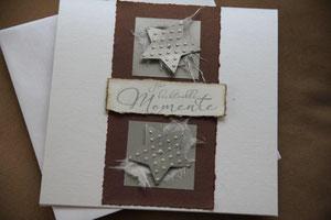 """weihnachtskarte """"für lichtvolle momente"""", format 17 x 17 cm, mit innenblatt und passendem couvert, fr. 11.50"""