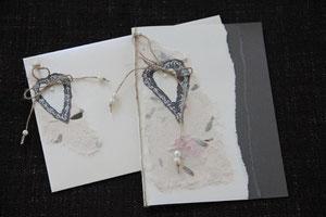 hochzeitskarte, format ca. 21 x. 14 cm, mit innenblatt und passendem couvert, fr. 11.00
