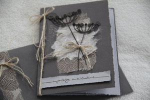 """kondolenzkarte """"aufrichtige anteilnahme"""", format 21 x 15 cm, inkl. innenblatt und passendem couvert, fr. 9.50"""