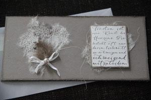 """kondolenzkarte """"trösten ist eine kunst....."""", inkl. innenblatt und couvert, fr. 9.50"""