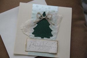 """weihnachtskarte """"adventsglitzergruss"""", format 15.5 x 15.5 cm, mit innenblatt und passendem couvert, fr. 9.50"""