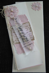 hochzeitskarte, format ca. 29 x 10.5 cm, inkl. innenblatt und passendem couvert, fr. 11.00