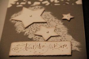 """weihnachtskarte """"stärnlizauber"""", grau-braun, format ca. 15 x 21 cm, mit innenblatt und passendem couvert, fr. 9.50"""