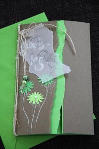 geburtstagskarte, format ca. 14 x 21 cm, mit innenblatt und passendem couvert, fr. 9.50