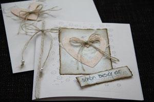 """glückwunschkarte """"schön bisch do..."""", format 15 x 15 cm, inkl. innenblatt und passendem couvert, fr. 9.50"""