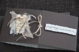 """kondolenzkarte """"aufrichtige anteilnahme"""", spezialformat, inkl. innenblatt und couvert, fr. 9.50"""