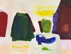 weiß blau gelb grün rot 5, 2018, 130 x 170 cm, oil on canvas