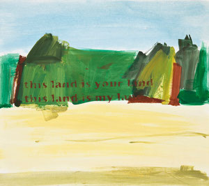 this land is your/my land 5, 2010, 48 x 54 cm, oil on paper