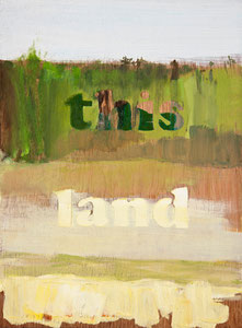 this land 1, 2010, 37 x 28 cm, oil on wood